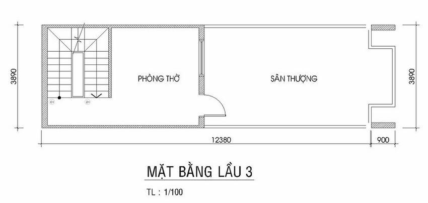 Thiết kế nhà phố hiện đại 4 tầng 18