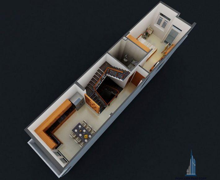 Thiết kế nhà phố 4 tầng hiện đại 9