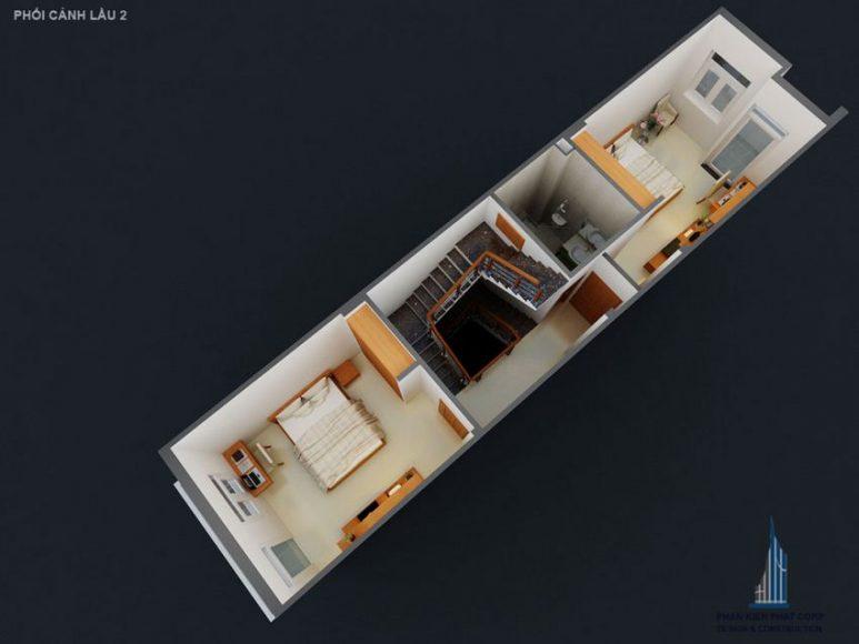 Thiết kế nhà phố 4 tầng hiện đại 15