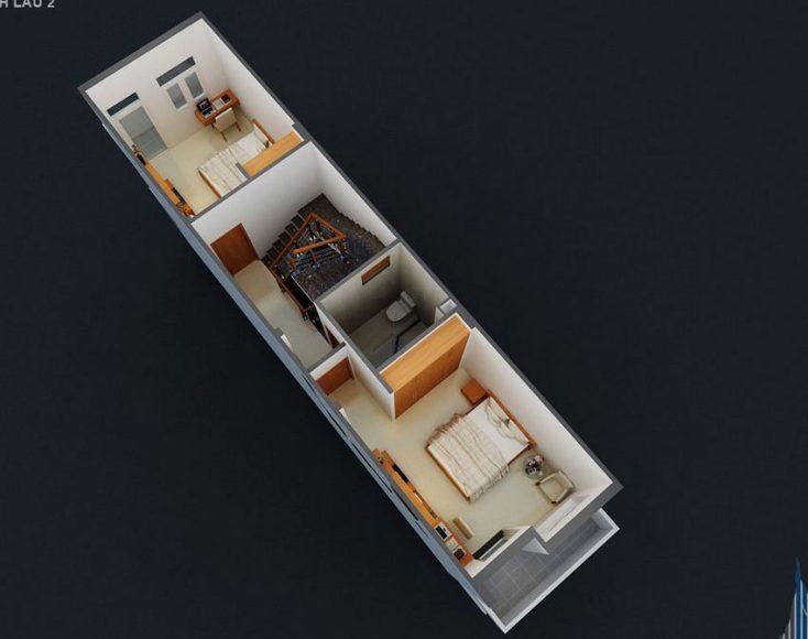 Thiết kế nhà phố 4 tầng hiện đại 16