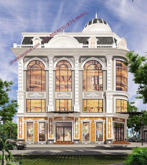 Mẫu biệt thự 4 tầng cổ điển đẹp 4