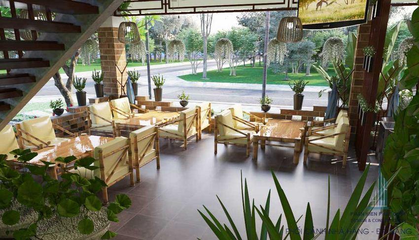 Thiết kế nhà hàng sân vườn 2 tầng 10