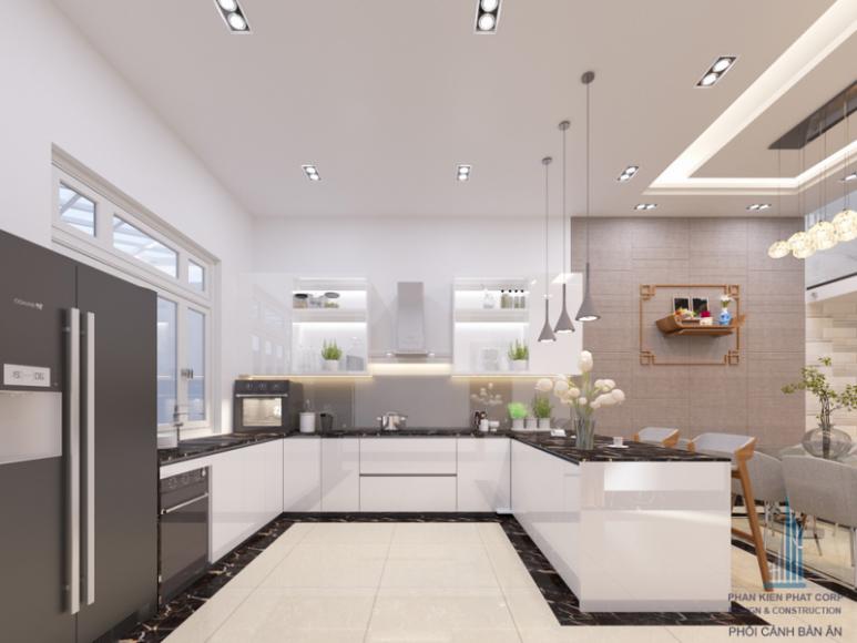 Thiết kế bếp ăn & phòng ăn biệt thự hiện đại