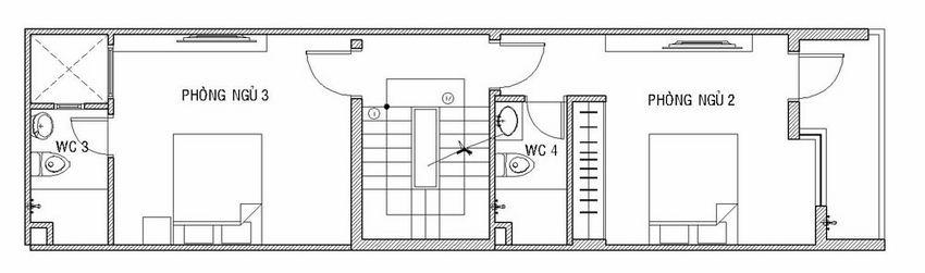 Mẫu nhà 4 tầng 4x14,5m đẹp hiện đại 17