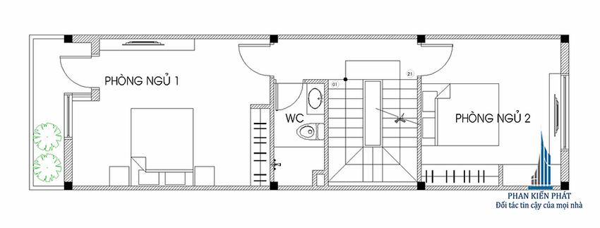 Mẫu nhà ống 3 tầng hiện đại đẹp 8