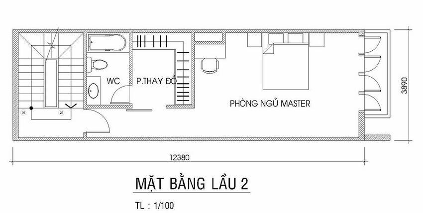 Thiết kế nhà phố hiện đại 4 tầng 16