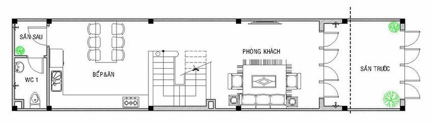 Mẫu nhà 4 tầng 4x14,5m đẹp hiện đại 2
