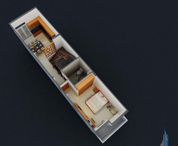 Thiết kế nhà phố 4 tầng hiện đại 10
