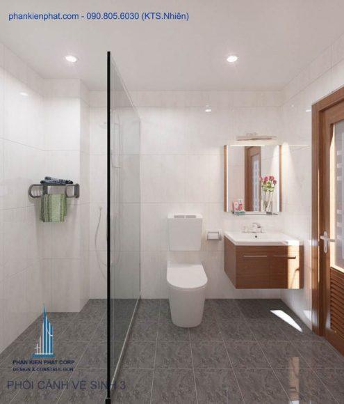 Phối cảnh nhà vệ sinh