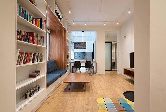Thiết kế căn hộ cũ ẩm thấp thành không gian sống tiện nghị