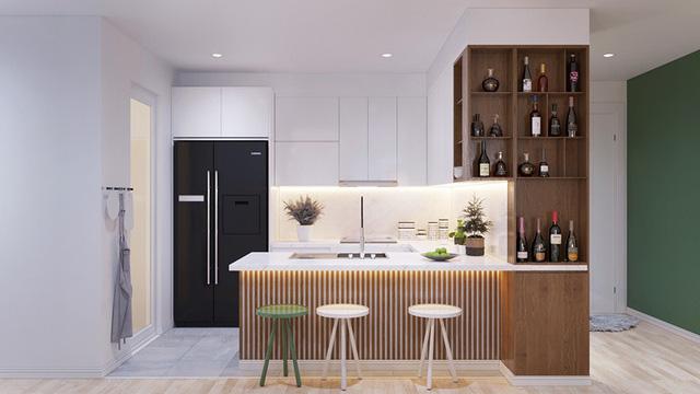 Thiết kế nội thất căn hộ chung cư 80m2 3 phòng ngủ