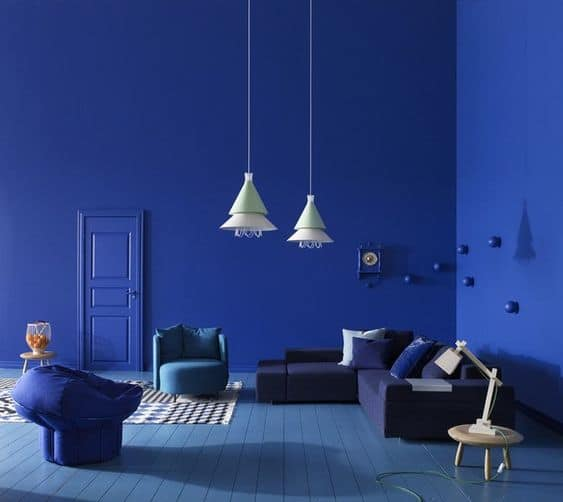 Nội thất cho màu Classic Blue của năm 2020